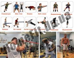 Резиновые петли – комплект (5 шт): упражнения комплекс