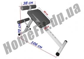 Скамья PRO для пресса (римский стул) и гиперэкстензии (тренажер спины) фото 3