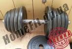 125 кг блинов и гантели 2х20 кг (УЦЕНКА - Б/У) купить в Полтаве и Тернополе