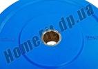 Блин (диск) бамперный Bumper Plates 45 см 15 кг для кроссфита фото  2