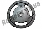 Блин литой PT-S для штанги 15 кг (26/31/52 мм)