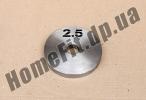 Блин стальной Н/О 2.5 кг (26/31/52 мм)