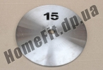 Блин стальной Н/О 15 кг (26/31/52 мм)