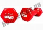 Гантели для фитнеса GoDo 1,5 кг