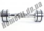 Ряд неразборных хромированных гантелей DB5204 из 9 пар, шаг 1 кг фото 2