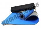 Коврик для йоги голубой-серый: фото