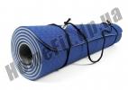 Коврик для йоги синий-серый: фото